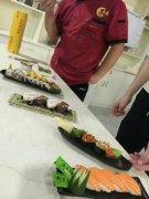 寿司学员培训过程图