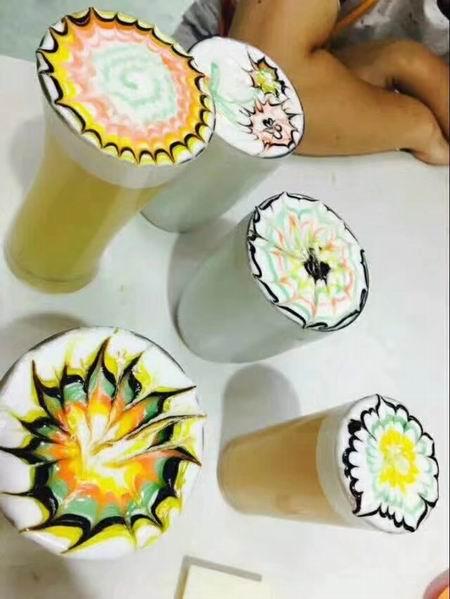 丝袜奶茶培训学员作品图